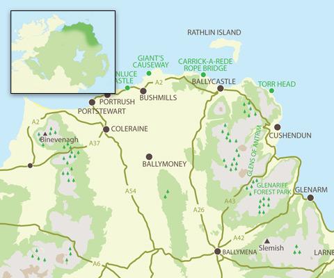 Causeway Coast & Glens Map